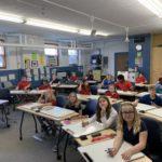 5th grade at desks
